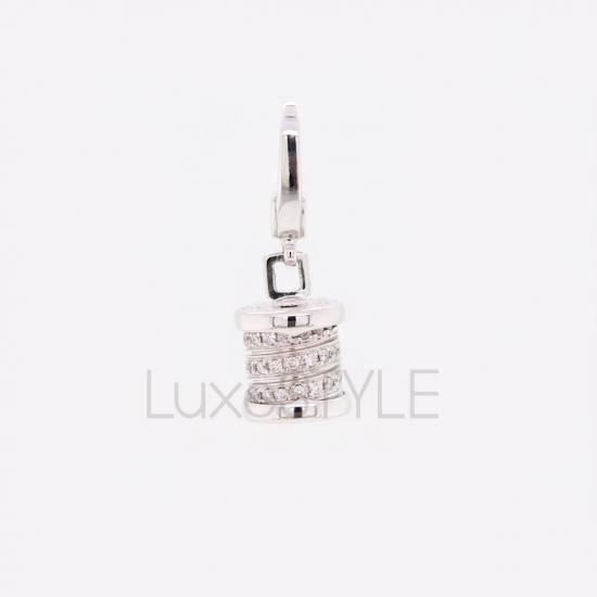Pre-Loved Bvlgari B.Zero1 Diamond 18k White Gold Charm Pendant
