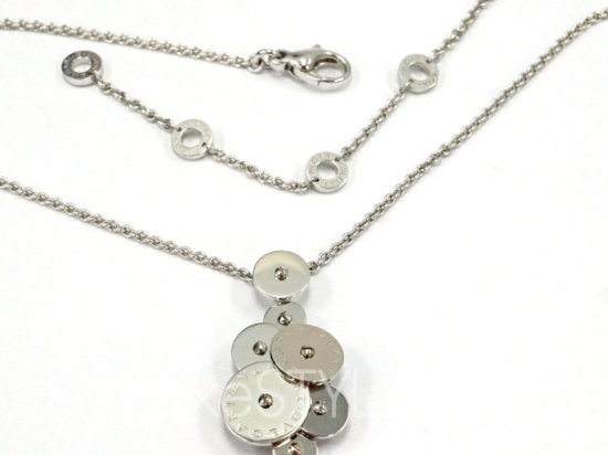 Pre-Loved Bvlgari Cicladi Rotating Disc 18K White Gold Necklace