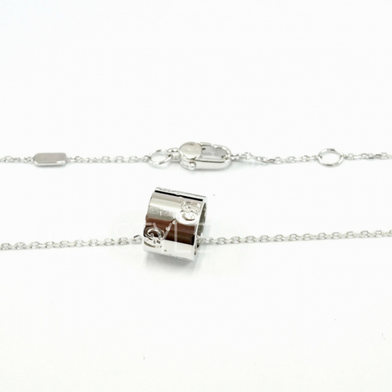 Pre-Loved Gucci Icon 18K White Gold Necklace