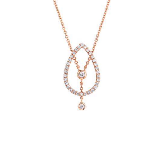Citigems Rose Gold Diamond Necklace