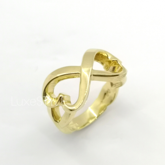 Pre-Loved Tiffany & Co. Paloma Picasso Double Loving Heart 18K Yellow Gold Ring