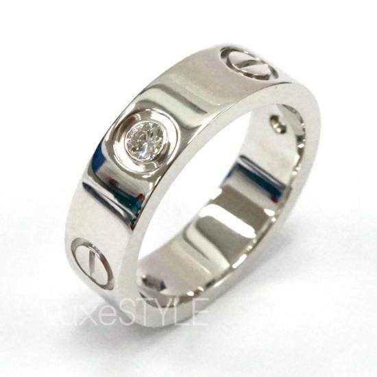 Cartier Love 18K White Gold 3 Diamond Ring (Preloved)