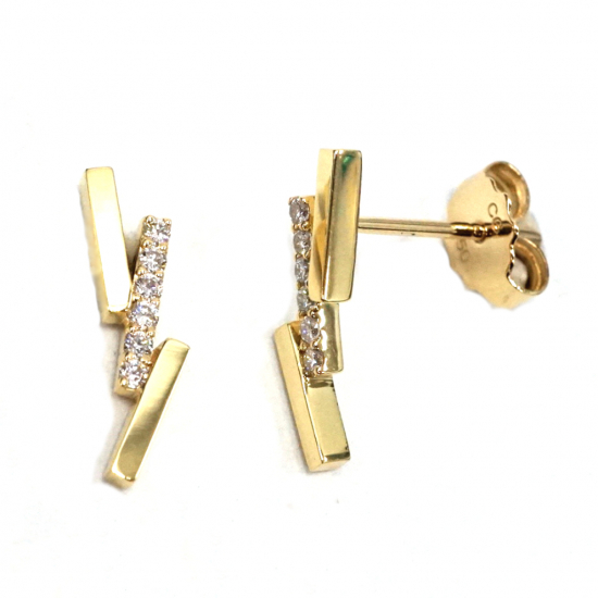 Citigems 18K Yellow Gold Diamond Earrings
