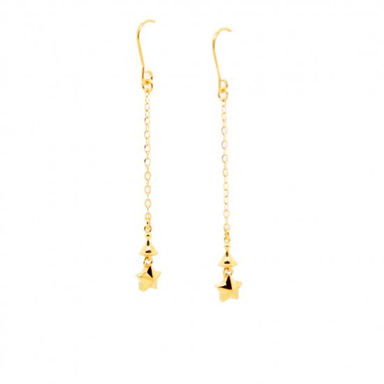 Citigems 916 Wishing Star Dangling Earrings
