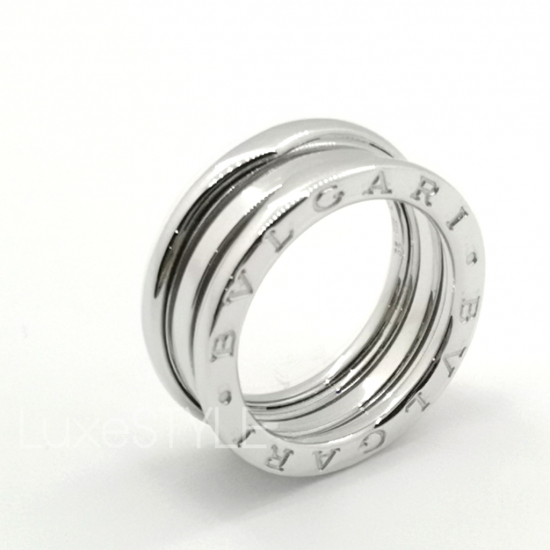 Bvlgari B.Zero1 3 Band 18K White Gold Ring (Preloved)