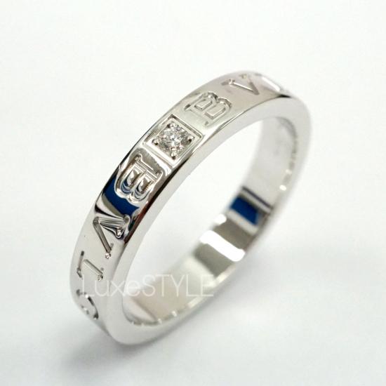 Pre-Loved Bvlgari Bvlgari 18K White Gold Diamond Ring