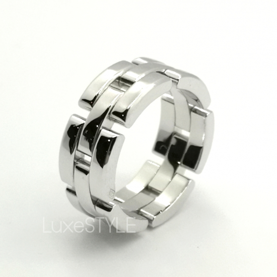 Cartier Maillon Panthere 18K White Gold Ring (Preloved)