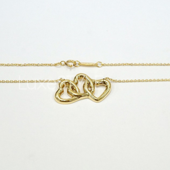 Pre-Loved Tiffany & Co. Triple Heart 18K Yellow Gold Necklace