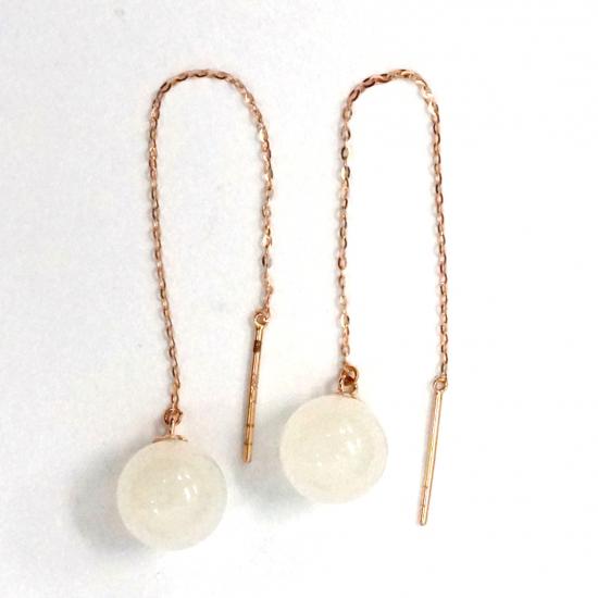Citigems 18K Rose Gold Nephrite Earrings