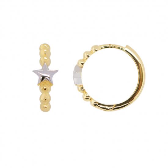 Citigems 916 Star Hoop Earrings