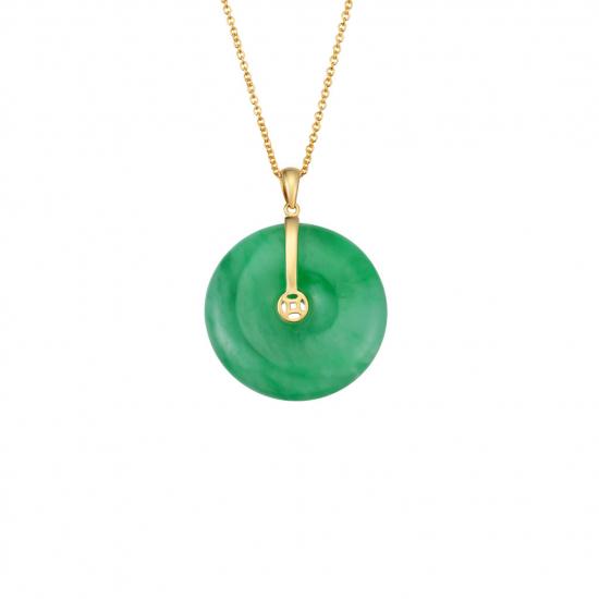 Citigems 18K Yellow Gold Jade Pendant