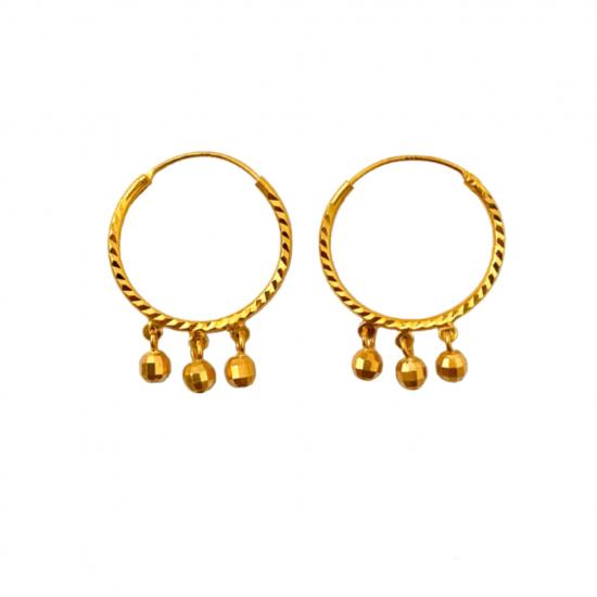 Citigems 916 Alegria Hoop Earrings
