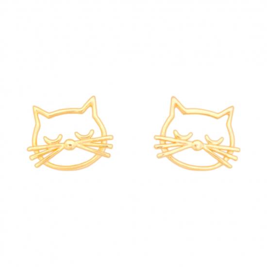Citigems 916 Gold Sassy Cat Earrings
