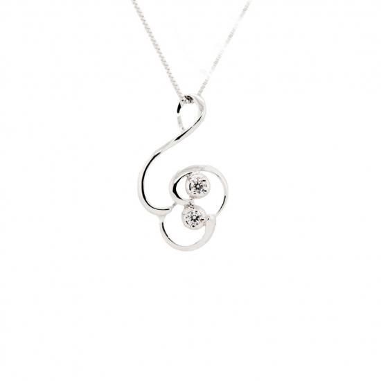 Citigems Perfect Love 18K White Gold Diamond Pendant