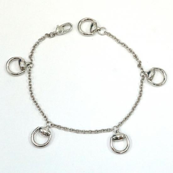 Pre-Loved Gucci Horsebit 18K White Gold Bracelet