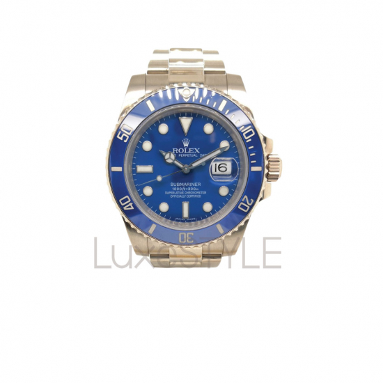 Preloved Rolex 18k White Gold Submariner 116619LB (Smurf) Watch