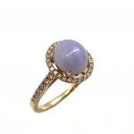 Citigems 18K Rose Gold Jadeite A Diamond Ring