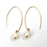 Citigems 18K Yellow Gold Pearl Earrings