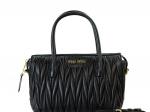 Miu Miu Matelasse Leather Black Handbag