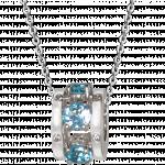 Citigems White Gold Colored Gem Diamond Charm Pendant