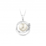 Citigems White Gold Pearl Pendant