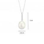 [FREE CHAIN] Citigems 18K Perle Diamond Pendant