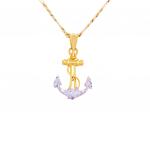 Citigems 916 Gold Anchor Pendant