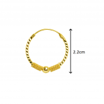 Citigems 916 Adelina Hoop Earrings
