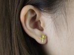 Citigems 999 Gold Criss Cross Earrings