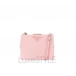 Prada Saffiano Leather Light Frame Pink Shoulder Bag
