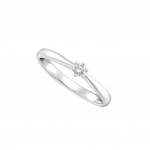 Citigems White Gold Diamond Pinky Ring