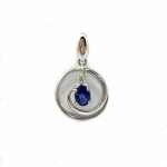 Citigems White Gold Sapphire Diamond Pendant