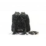 Miu Miu Matelasse Leather / Sequin Black Bucket Bag