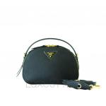 Prada Odette Saffiano Leather Black Crossbody Bag