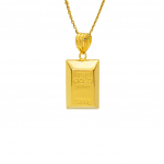 Citigems 999 Pure Gold Bar Pendant