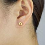 Citigems 916 Gold Sunflower Earrings