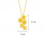 Citigems 999 Pure Gold Daisy Flower Pendant