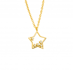 Citigems 18K Elistar Star Diamond Necklace