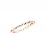 Citigems 14K Rose Gold Classic Eternity Diamond Pinky Ring