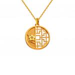 Citigems 999 Pure Gold Oriental Bloom Round Pendant