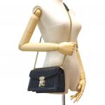 Miu Miu Confidential Matelasse Leather Black Bag