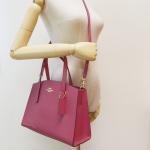 Coach Dark Pink Charlie Carryall Shoulder Bag