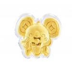Citigems 999 Pure Gold 0.2g Yu Shu Shu (裕鼠鼠) Golden Treasure