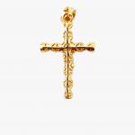 Citigems 916 Embroidered Cross Pendant