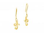 Citigems 999 Pure Gold Dangling Earrings