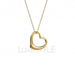 Pre-Loved Tiffany & Co. Elsa Peretti Open Heart 18K Yellow Necklace