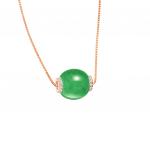 Citigems 18K Gold Jade Diamond Pendant