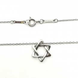 Pre-Loved Tiffany & Co. Elsa Peretti Star of David Silver Necklace