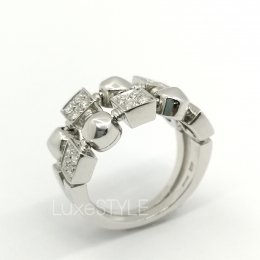 Pre-Loved Bvlgari Lucia 18K White Gold Diamond Ring