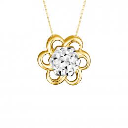 Citigems 916 Gold Cheerful Daisy Pendant